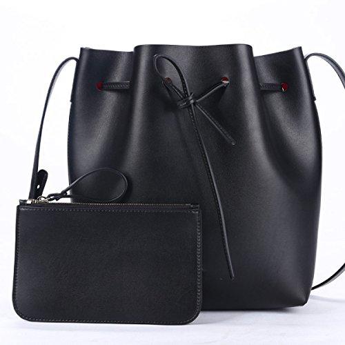 Simple Bolsa De Cubo Bolsos Cuero Hombro La Moda Europa Y Los Estados Unidos Messenger Bag C