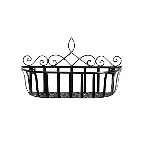 Small Openwork Basket - Wall Mounted Holder Hanging Flower Basket Openwork Metal Wire Storage Basket Shelves Display Racks Fruit Basket for Home Living Room Kitchen Balcony Coffee Shop