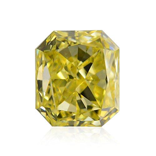 Diamond Radiant Loose Diamonds (0.44 Carat Fancy Intense Yellow Loose Diamond Natural Color Radiant Cut IGI)