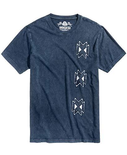 American Rag Mens Graphic-Print T-Shirt Basic Navy, XL