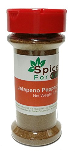 Jalapeno Chili Peppers (SFL Jalapeno Pepper, Ground - 3.5 oz Shaker Jar - Kosher)