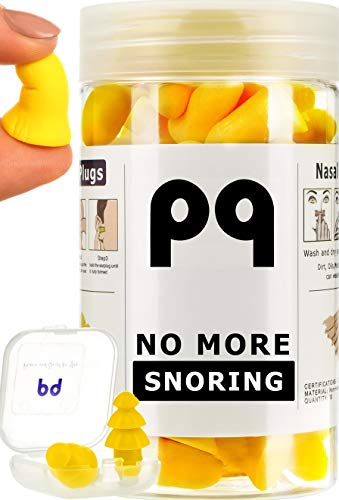 PQ Earplugs for Sleep - Comfortable & Reusable Ear Plugs for Side Sleepers - Sound Blocking Level 32 dB - Noise Cancelling for Snoring & Reusable Ear Plugs for Swimming ()