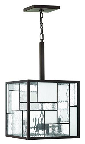 Hinkley 4574KZ Transitional Four Light Pendant from Mondrian collection in Bronze/Darkfinish, 14.00 ()