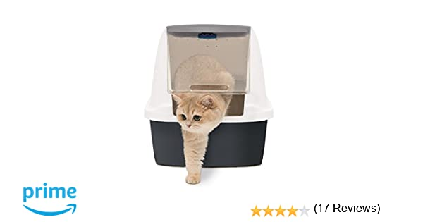 Catit Magic Blue Hooded, Caja de arena para gatos, Jumbo