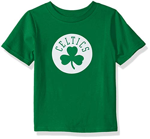 Outerstuff NBA NBA Kids & Youth Boys Boston Celtics Primary Logo Short Sleeve Basic Tee, Kelly Green, Youth Medium(10-12)
