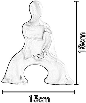 DECORACION FJH Cerámica Escultura Zen Caracteres Adornos Abstractos Moderno Minimalista Hogar Porche Televisor Armario para vinos Salón Modelo Clásico Escritorio (Color : F): Amazon.es: Hogar