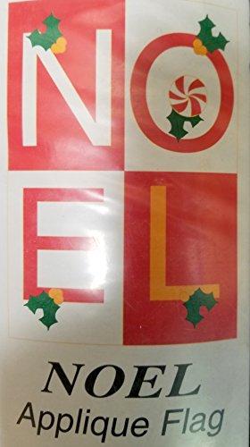 Christmas Applique Flag - Evergreen Enterprise NOEL Christmas Outdoor Applique Flag House Decoration 28 in x 40 in Gift 10409