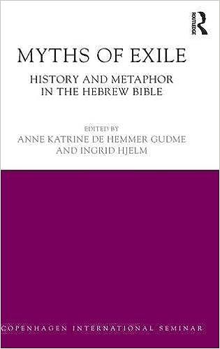 Myths of Exile: History and Metaphor in the Hebrew Bible (Copenhagen  International Seminar): Gudme, Anne Katrine, Hjelm, Ingrid: 9781138886896:  Amazon.com: Books