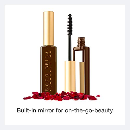 Ecco Bella, FlowerColor Advanced Vegan Mascara, Boost Lash Length, Volume and Definition for Fuller Natural Looking Lashes (Brown)
