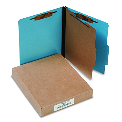 (ACCO 15642 ACCO Presstex Colorlife Classification Folders, Letter, 4-Section, Lt BE, 10/Box)