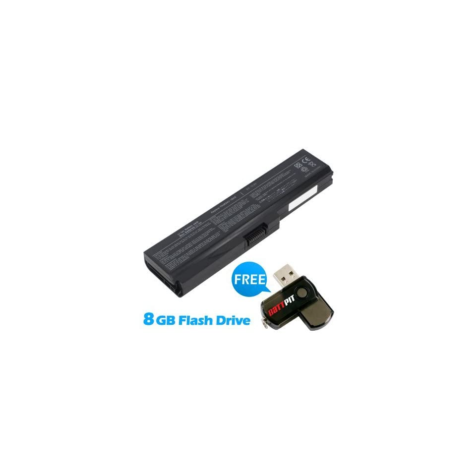 Battpit™ Laptop / Notebook Battery Replacement for Toshiba Satellite M645 SP6001L (4400 mAh) with FREE 8GB Battpit™ USB Flash Drive