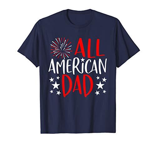 Mens 4th of July Family Matching Shirts All American Dad TShirt T-Shirt