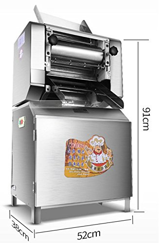 Commercial Electric Pasta Press Machine Stainless Steel Noodle Making Machine Automatic Pasta Making Machine 2mm~10mm Pasta Cutter Optional for Noddle Maker Restaurant and Noddle Shop