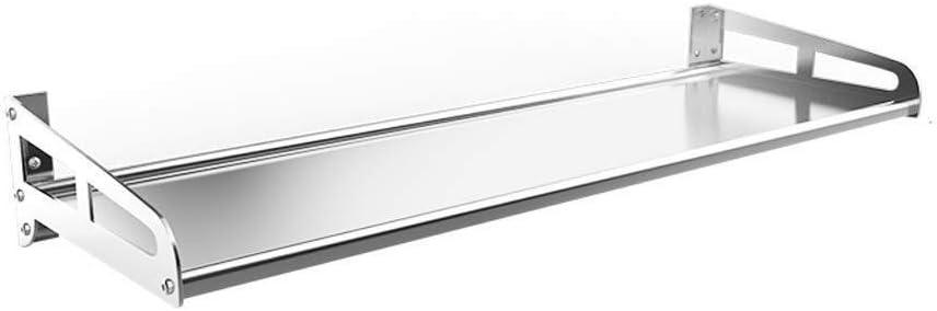 Size : 50CM ZHWEI Kitchen Shelf Wall-mounted Stainless Steel Storage Shelf 50 35cm Wide Range Of Uses