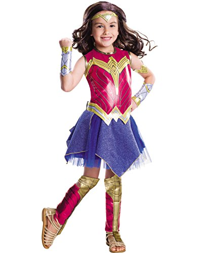 Rubie's Costume Batman vs Superman: Dawn of Justice Deluxe Wonder Woman Costume, Medium (Superman Costume For Child)