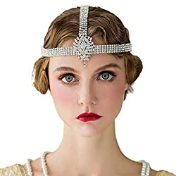 1920s Rhinestone Silver Flapper Headpiece