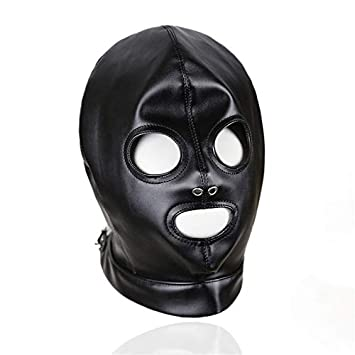 Mask Sexy Bondage Leather Hood BDSM Erotic Adult Games Fetish Sex Toy Restraint Brinquedos Sexuais Harness