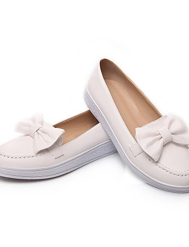 Punta Comfort Zapatos Gyht Redonda Cn39 Mocasines Zq Eu39 Vestido De rosa Boda Blanco Uk6 C Mujer White Pink Semicuero Casual us8 Plataforma us8 Exterior nwqY5X5A