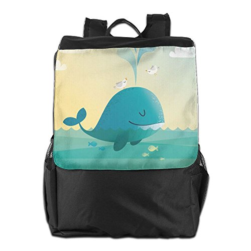 HSVCUY Strap Camping And Storage Cute Backpack Personalized Women School Dayback For Adjustable Shoulder Men Outdoors Whale Travel Blue qPgqwFr