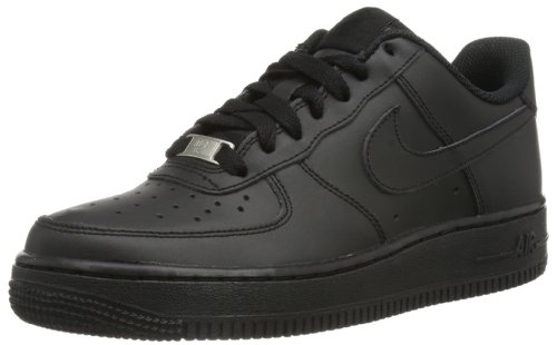Nike Kids Air Force 1 (GS) Black/Black/Black Basketball Shoe 7 Kids US