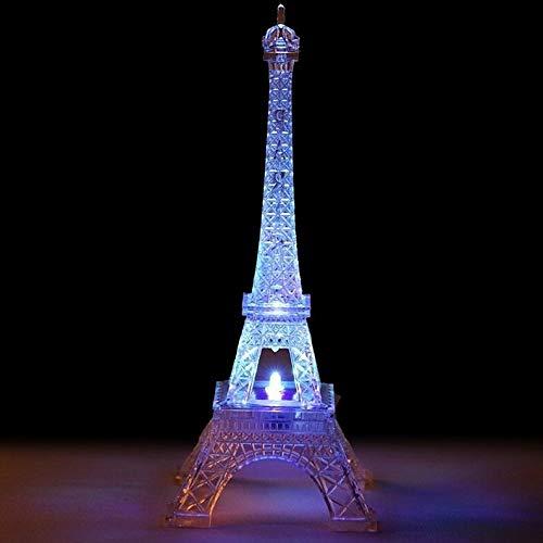 - Mikash 10 Paris Eiffel Tower Centerpiece with Lights Wedding Party Decorations | Model WDDNGDCRTN - 514 | 6 pcs