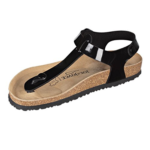 SynSoft Patent Soft Sandals Normal N JOE Black Footbed Lima JOYCE qBwnRxt4f6