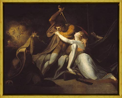 Framed Henry Fuseli Giclee Canvas Print Paintings Poster Reproduction(Percival Delivering Belisane from The Enchantment Urma)