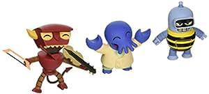 Futurama Tineez - Bumblebee Bender, Musical Robot Devil y Alternate Universe Zoidberg - Lote de 3 figuras coleccionables