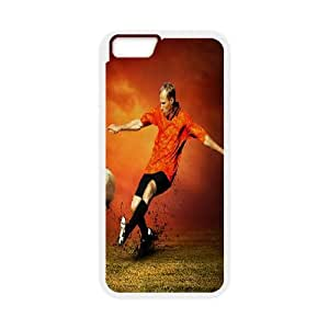 Football iPhone 6 Plus 5.5 Inch Cell Phone Case White Chpzf