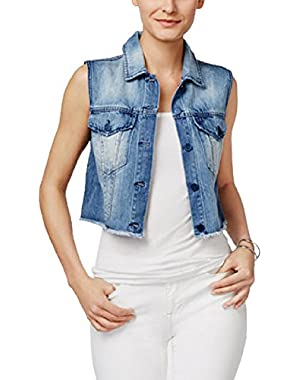 Jeans Cropped Denim Vest