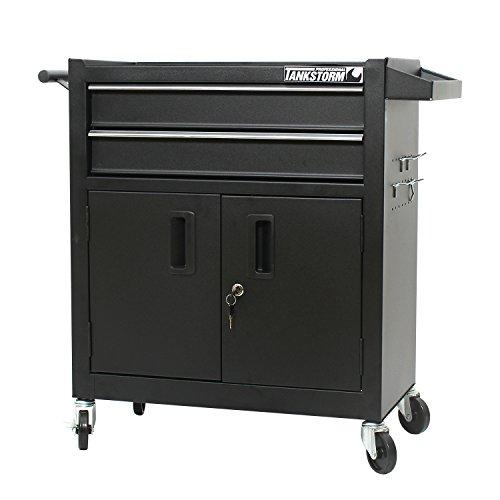 Steel Tool Cabinet - TANKSTORM Tool Chest Heavy Duty Cart Steel Rolling Tool Box