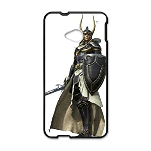 HTC One M7 Cell Phone Case Black Warrior of Light Final Fantasy Dgjex