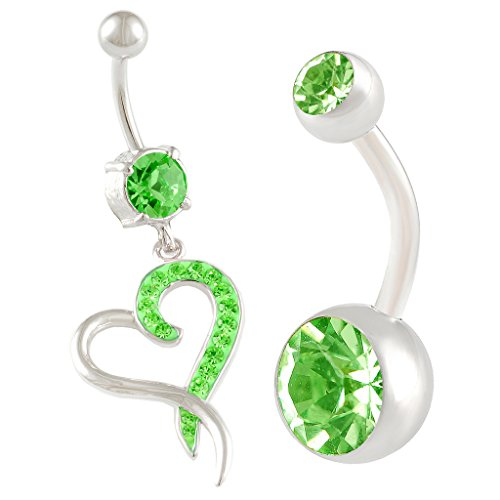 2pcs-14g-3-8-inch-10mm-heart-crystal-belly-button-ring-dangle-sexy-surgical-steel-cute-navel-piercin