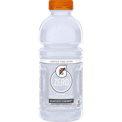 Gatorade Zero Sugar Thirst Quencher, Glacier Cherry, 20 Ounce Bottles (Pack of 12)