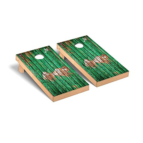 Victory Tailgate Marshall Thundering Herd NCAA College Vault Weathered Cornhole Board Set - 2 Boards, 8 Bags