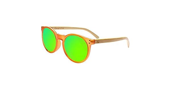 Gafas De Sol Fans Con Bambú, Polarizadas, Guanche, Unisex, Frosted Orange: Amazon.es: Ropa y accesorios