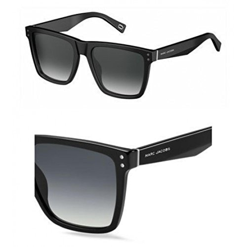 Marc Jacobs Women's Marc119s Square Sunglasses, BLACK/DARK GRAY GRADIENT, 54 ()