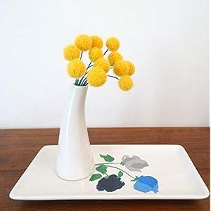 Fake Craspedia Flowers. Goldenrod, Sunflower Yellow Wool Pom pom Flowers. Felt Flowers. Alpaca Wool Billy Balls, Buttons. Round Modern. 24