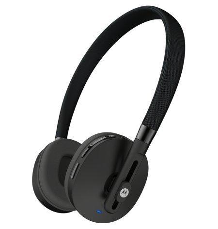 41iXL9FV6bL - Motorola S505 Moto Pulse Wireless On-Ear Headphone (Black-Chalk) for Rs 1