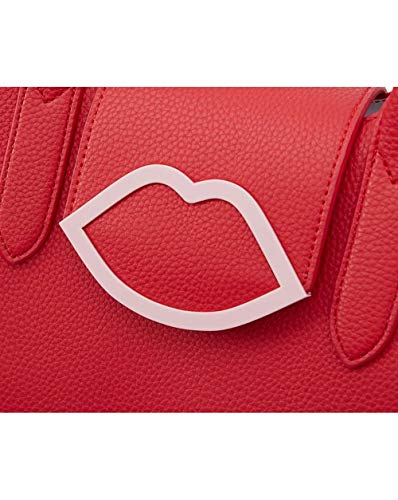 Cupids Lulu Guinness Bow Lips Leather Sofia Scarlet Tote vFvq5