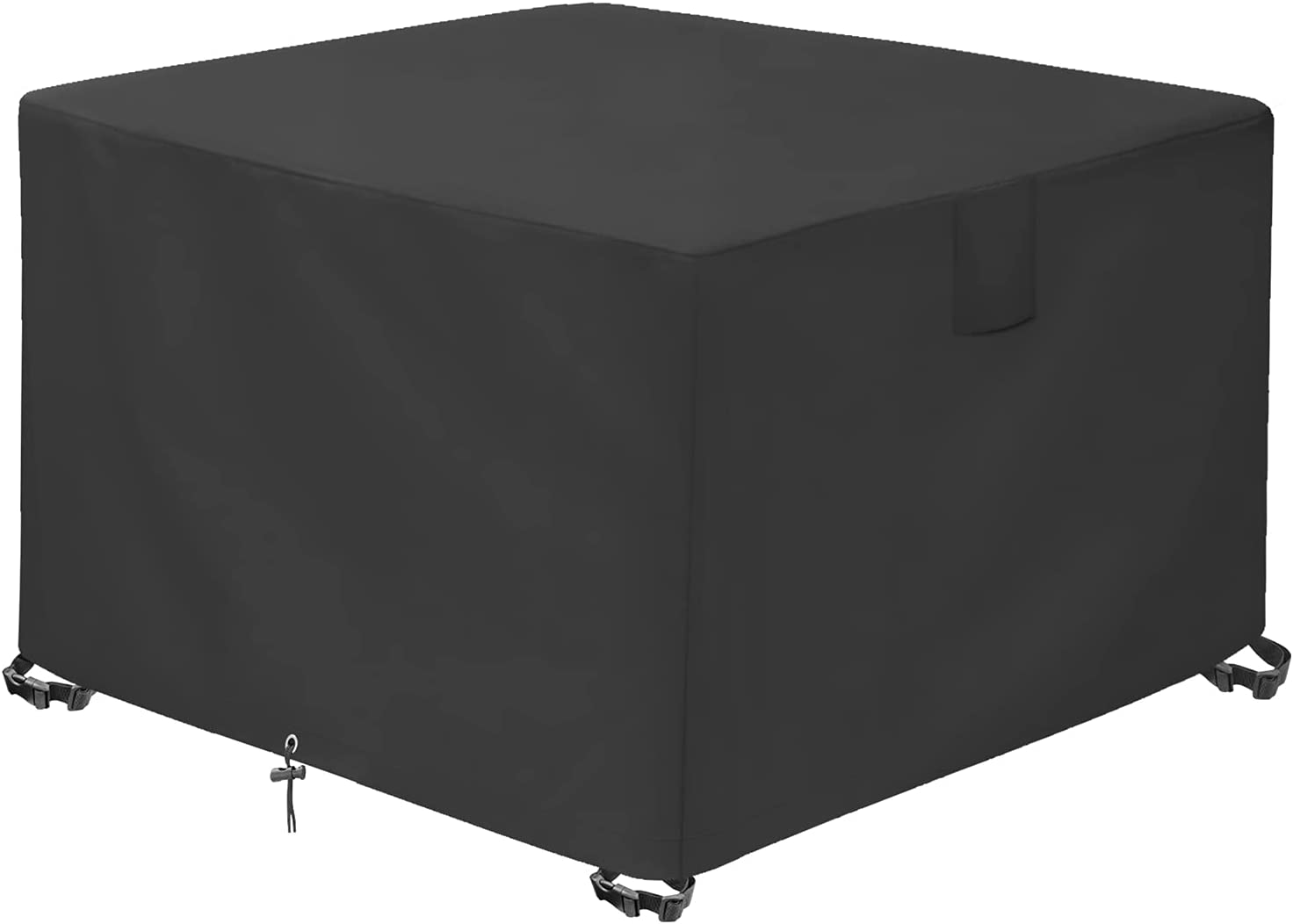 GARDRIT Patio Fire Pit Cover - 100% Waterproof Square Gas Firepit Table Cover Outdoor 36x36x20inch- Heavy Duty 600D Oxford Fabric with Thick PVC Coating, Anti-Crack, Anti-Fade