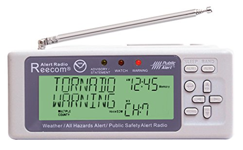 Unique Simultaneously Watch Multiple Channel Alerts (in Standby) with EOM Detection, Reecom R-500 Same Weather Alert Radio with AM/FM (Light Grey) by Reecom (Image #3)