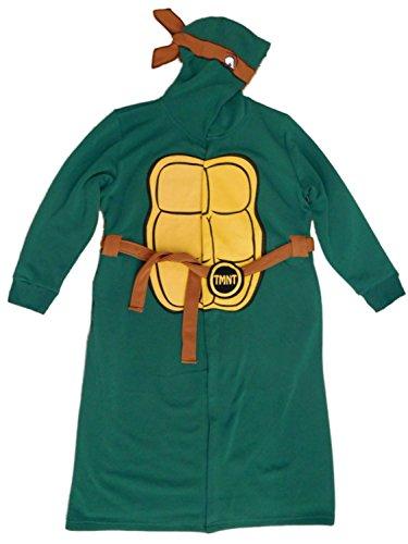 Teenage Mutant Ninja Turtles Mens Green Hooded Costume House Coat Bath Robe S/M (Robe Turtles Mens Ninja)
