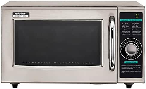 Sharp Electronics R-21LCF Microwave Oven, 1000 watts, stainless steel door timer