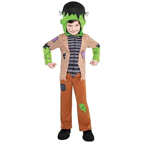 Suit Yourself Frankenstein's Monster Costume for Toddler Boys, Size 3T to 4T, Includes a Shirt, Pants, a Hood, and ()