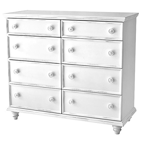 Salem House Country Cottage Dresser 8 Chest Drawer, Bright White
