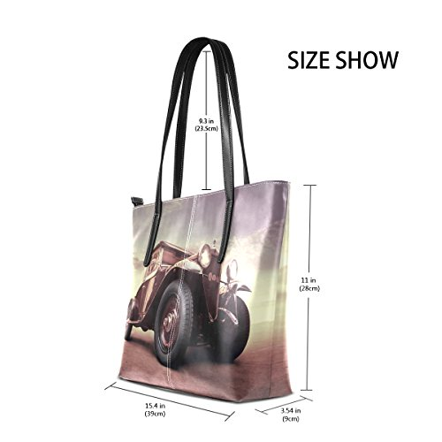 Totes Purses Bags Fashion Vintage PU Handbag Women's Handle Shoulder Car Top Leather TIZORAX PgRBxq