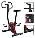 K&A Company Exercise Bike Stationary Fitness Cardio Aerobic Cycling Equipment Gym Indoor Home Upright Workout Lose Weight Red K&A Company