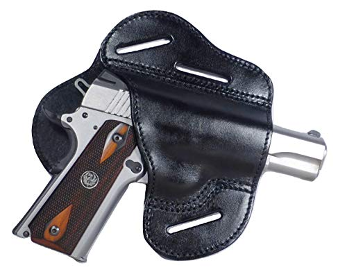 Tactical Scorpion Gear 3 Slot Leather Fast Draw Holster: Fits 1911 Colt Ruger