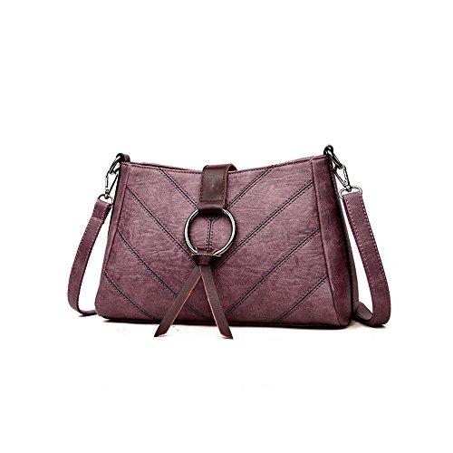 Ajlbt Bolso De Hombro De La Sra. Ajlbt Shoulder Bag Mrs. Fashion Korean Shoulder Bag Messenger Bag Purple Korean Fashion Messenger Bag Shoulder Bag Purple